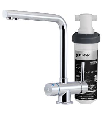 Puretec Z1-T6 Tripla T6 LED 3-in-1 Hot and Cold Mixer Tap with Filter System