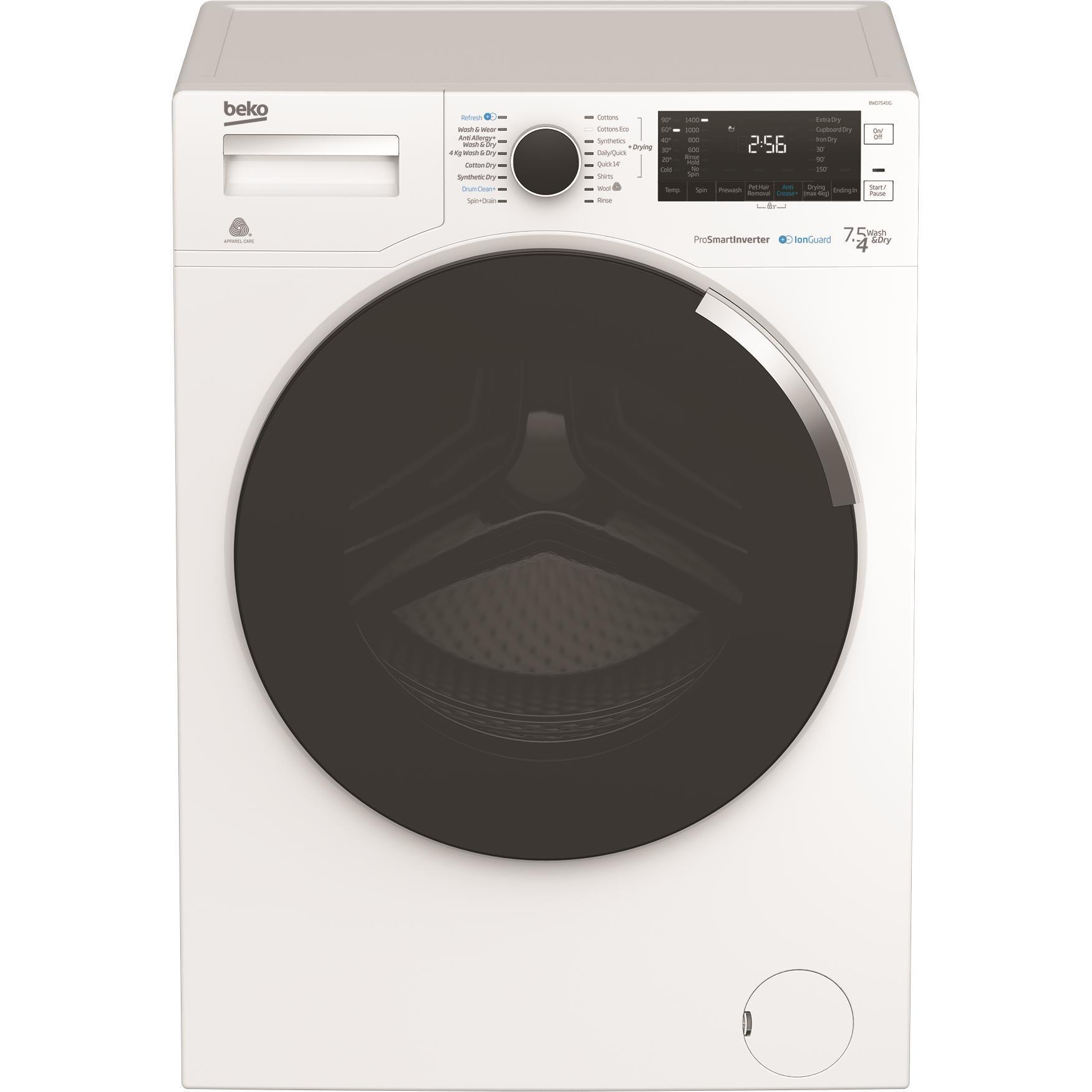 Beko BWD7541IG 7.5kg/4kg Washer Dryer Combo with IonGuard
