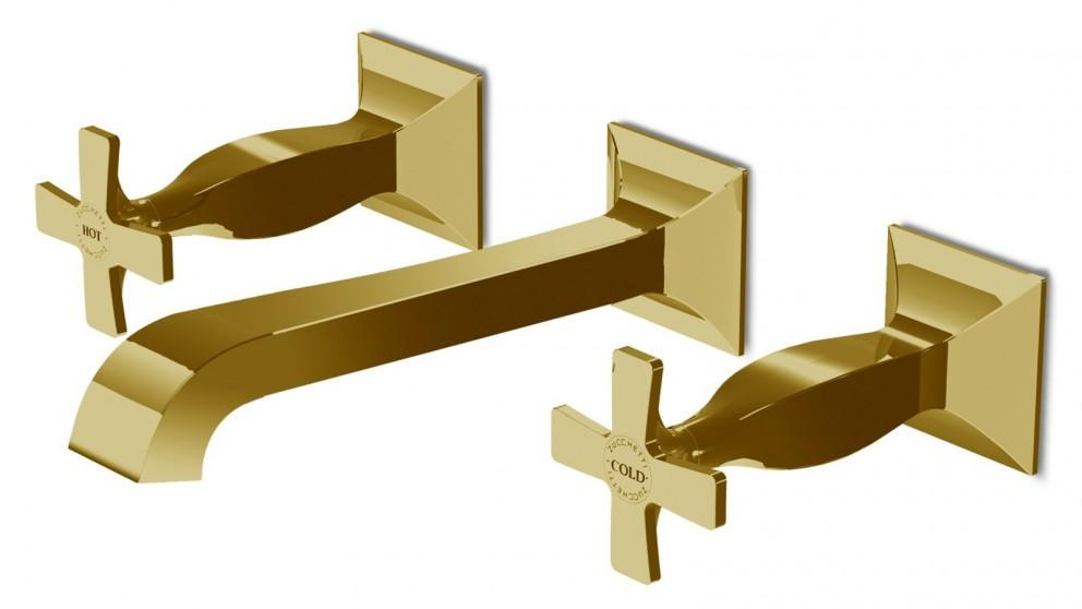 Zucchetti Bellagio Wall Mount Complete Basin Set – Gold