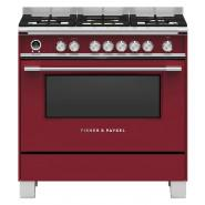 Fisher & Paykel – OR90SCG6R1 – 90cm Freestanding Dual Fuel Cooker – Red