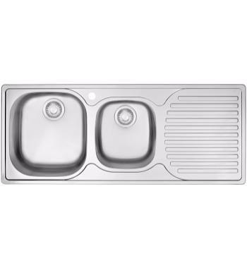 Franke PFX-P621RHD Pacific Plus 1 and 3/4 Bowl Right Hand Drainer Sink