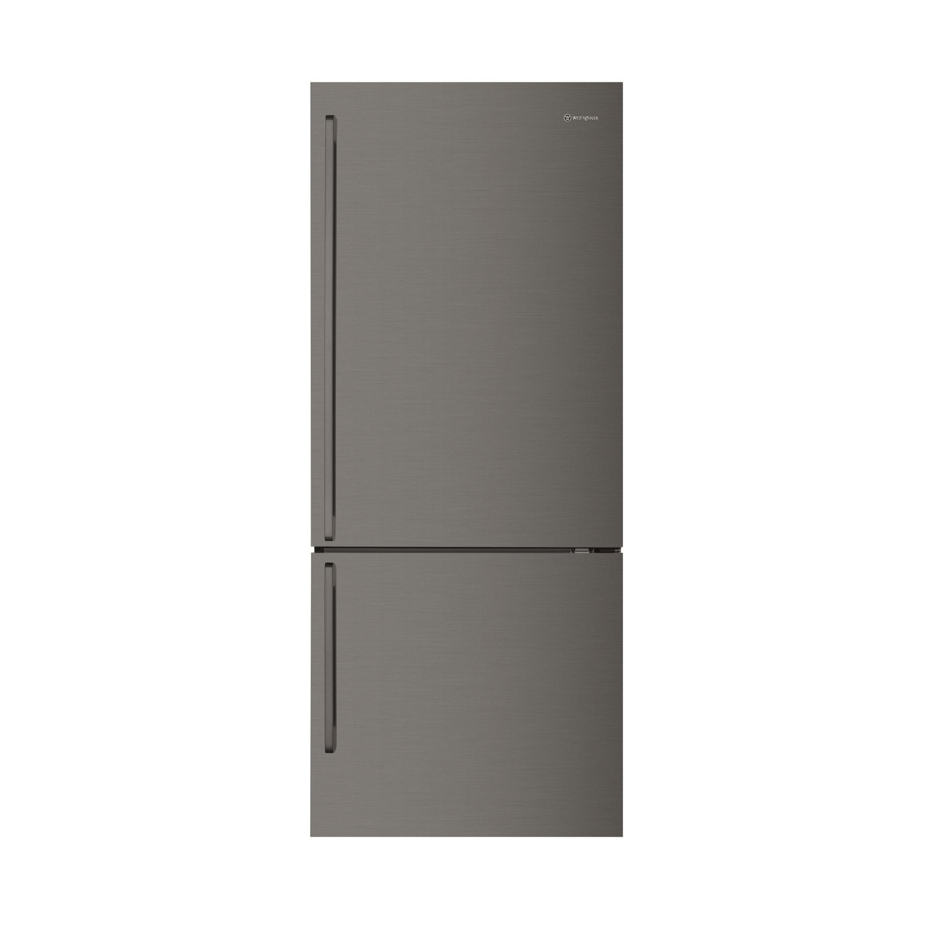 Westinghouse WBE4504BB 453L Bottom Mount Fridge (Dark S/Steel) [Right]