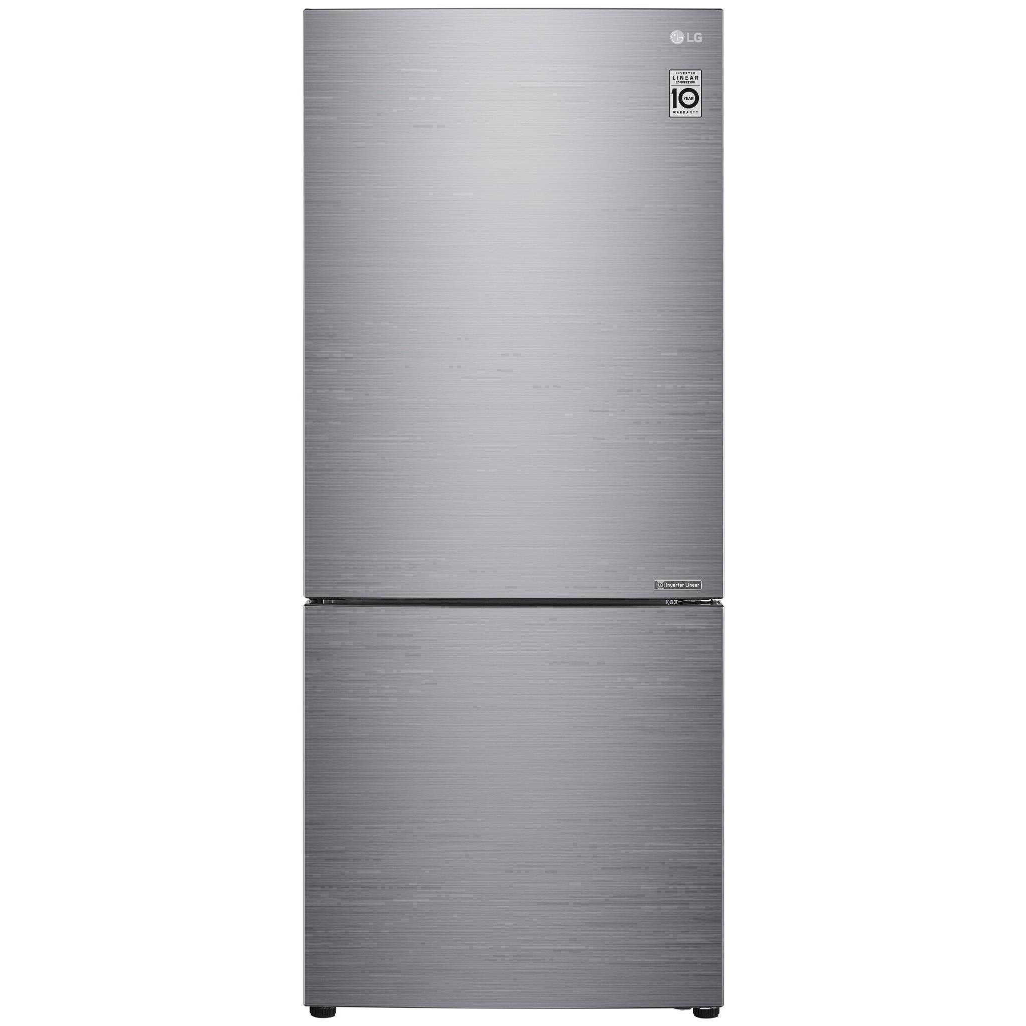 LG GB455PL 454L Bottom Mount Fridge (Stainless Steel)