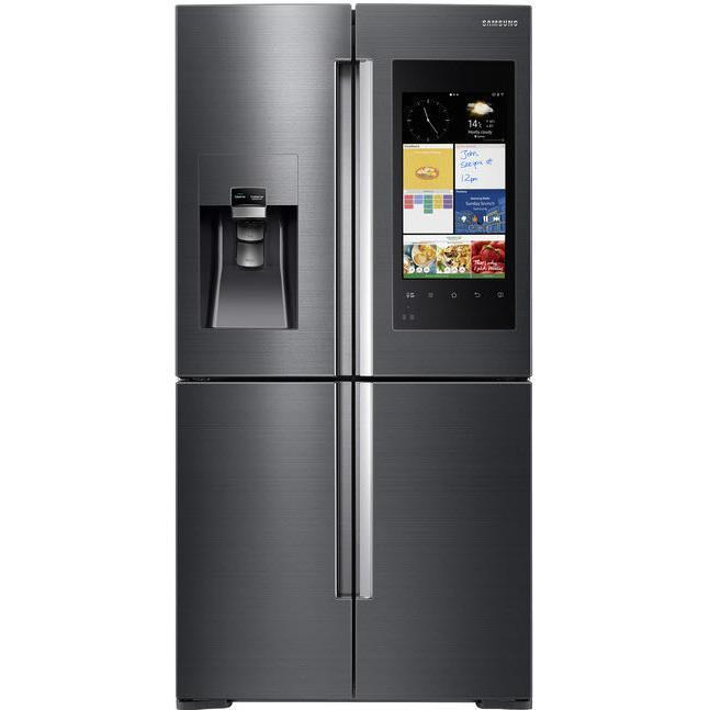 Samsung 671L Family Hub 4 Door French Door Fridge (Black Steel)