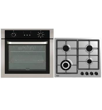 Haier 60cm Electric Oven & 60cm Gas Cooktop Pack HWO60S7EX1HCG604WFCX