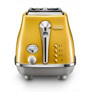 DeLonghi – CTOC 2003.Y – Icona Capitals 2 Slice Toaster – New York Yellow