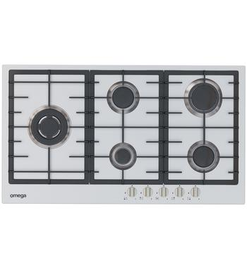 Omega OCG90FXB 90cm Natural Gas Cooktop