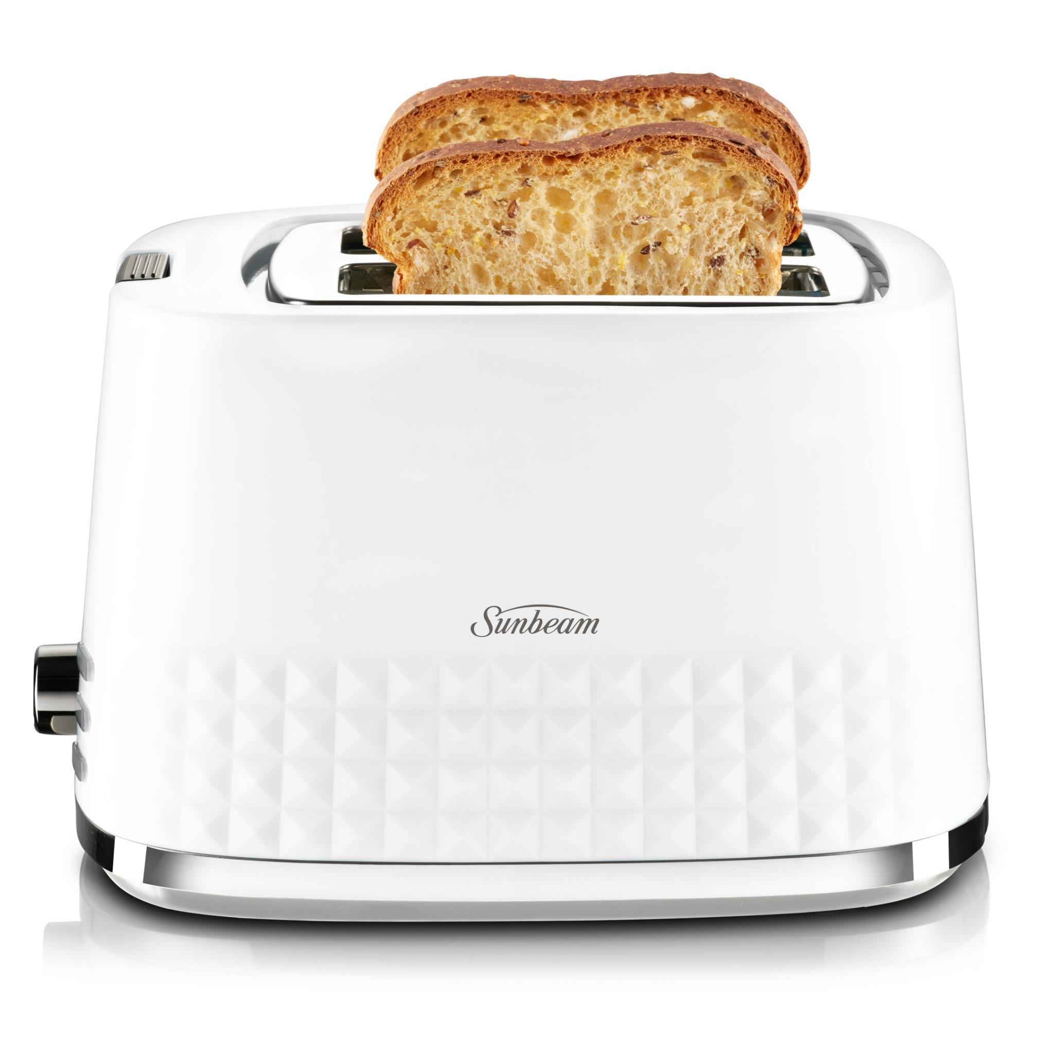 Sunbeam TA1900W Diamond Collection 2 Slice Toaster (White)