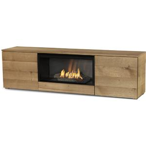 Planika Pure Flame Bio-Ethanol Freestanding Fireplace and TV Cabinet with Mesh PUFLTVBNOS