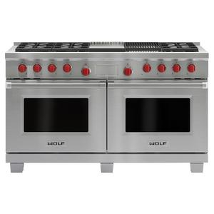 WOLF 152cm Freestanding Dual Fuel Oven/Stove with Infrared Chargrill and Teppanyaki ICBDF606CGNG