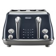 DeLonghi – CTOC 4003.BL – Icona Capitals 4 Slice Toaster – London Blue
