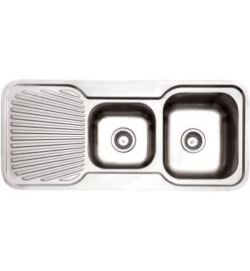 Arc IS11RS3 1 and 3/4 Bowl Left Hand Drainer Inset Sink