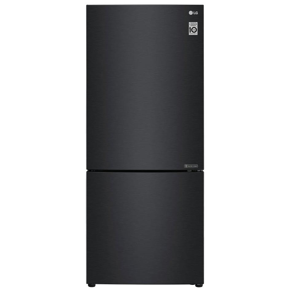 LG GB455MBL 454L Bottom Mount Fridge (Matte Black)