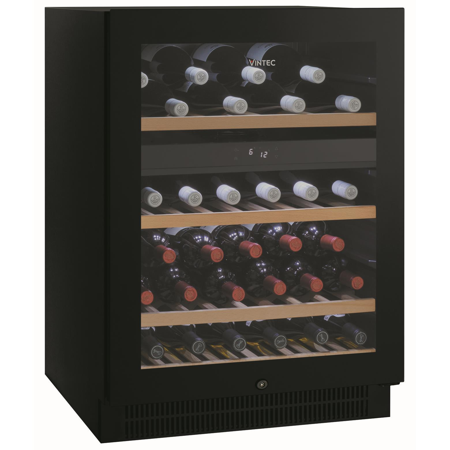 Vintec VWD050SBAX 50 Bottle Dual Zone Wine Cabinet