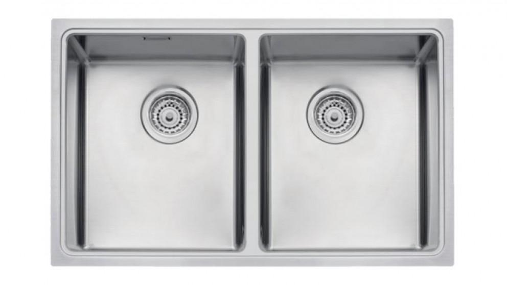 Linsol Tramontina Stainless Steel Double Bowl Top Mount Sink