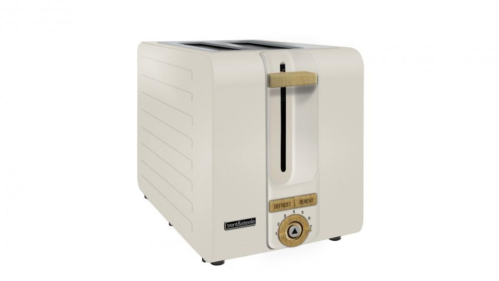 Trent and Steele Lagom Collection 2 Slice Toaster – Stone