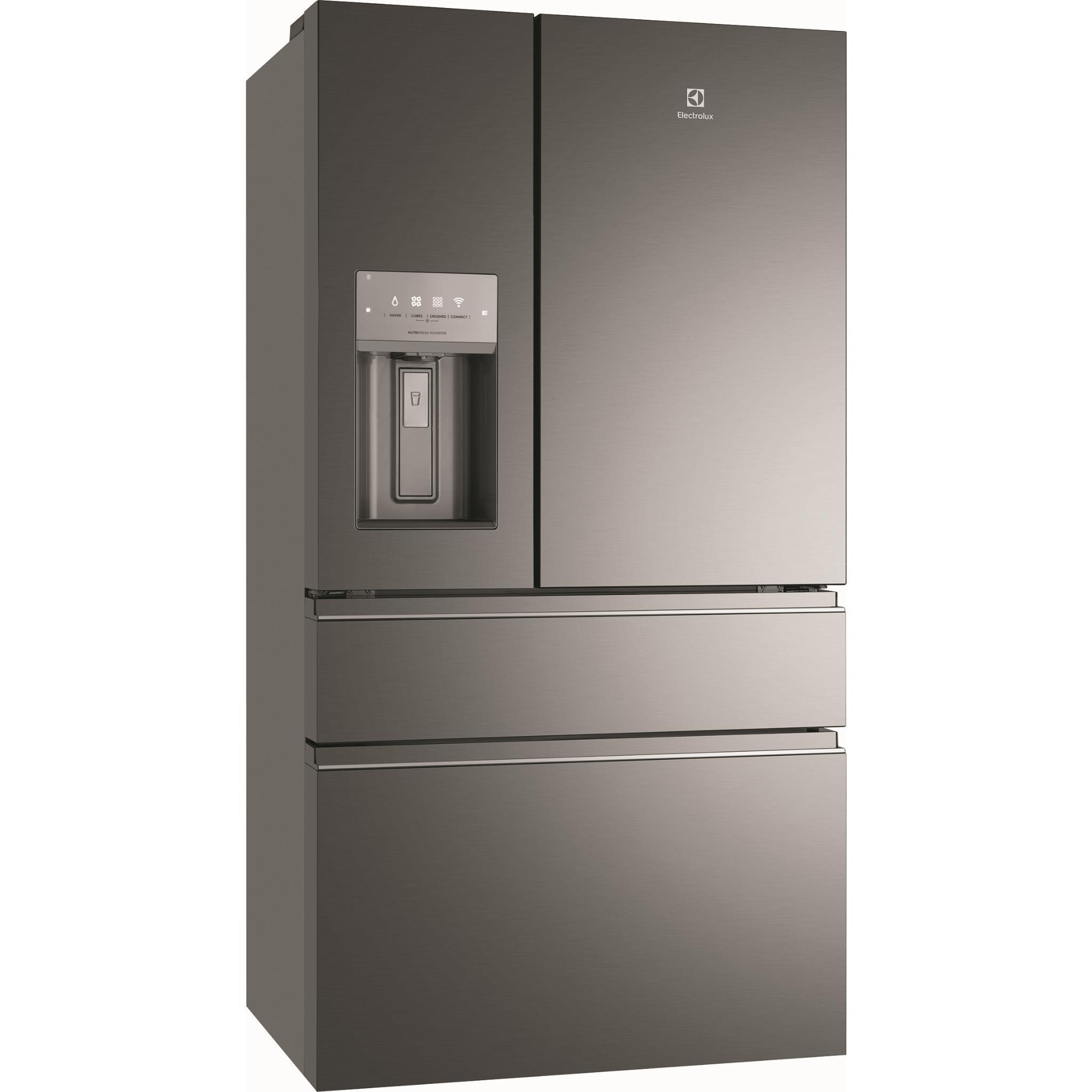 Electrolux EHE6899 BA 681L French Door Fridge (BlackS/Steel)