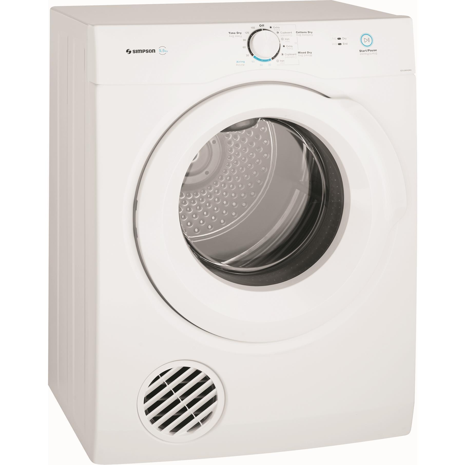 Simpson SDV556HQWA 5.5kg Auto Vented Dryer