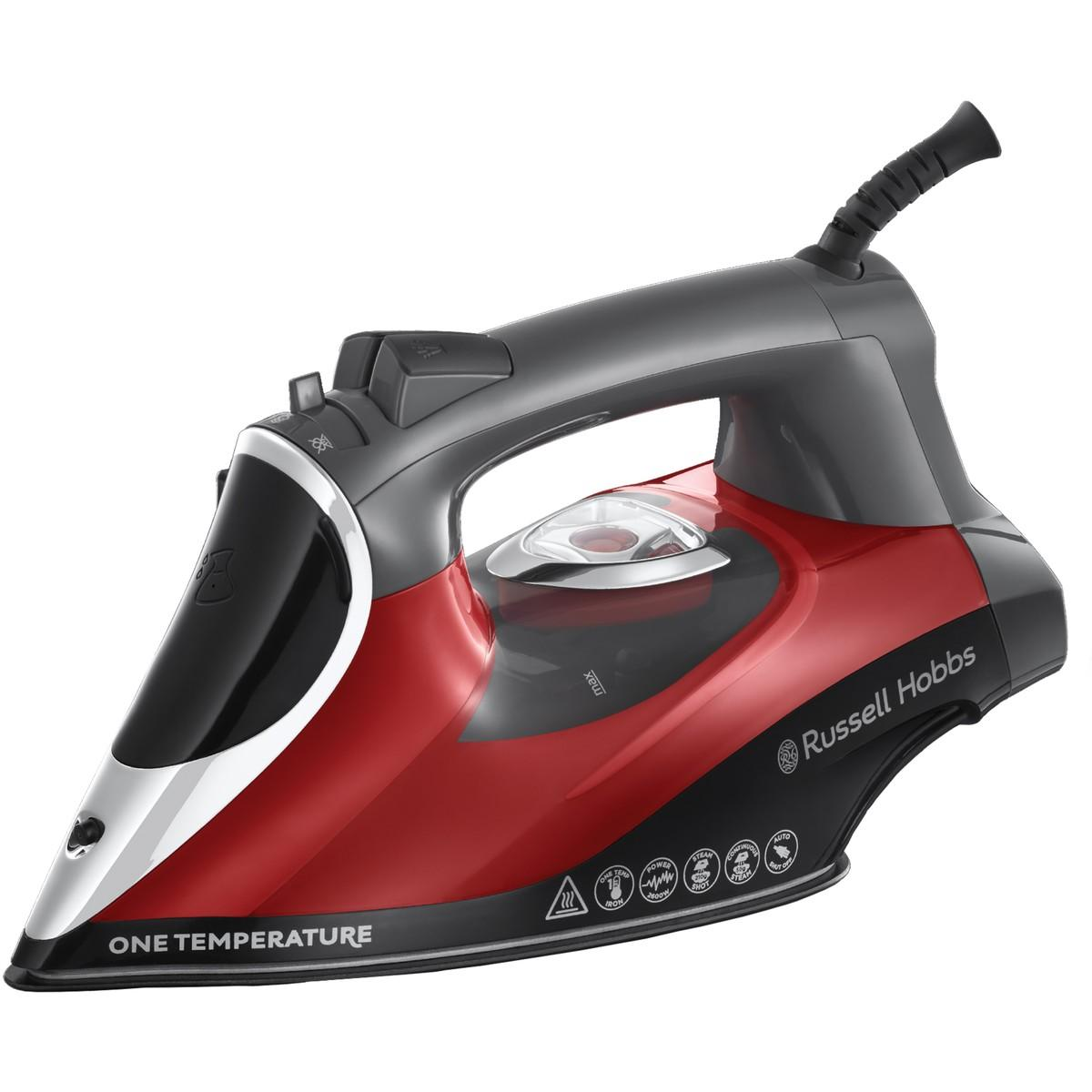 Russell Hobbs One Temperature Iron Red – 25090-56
