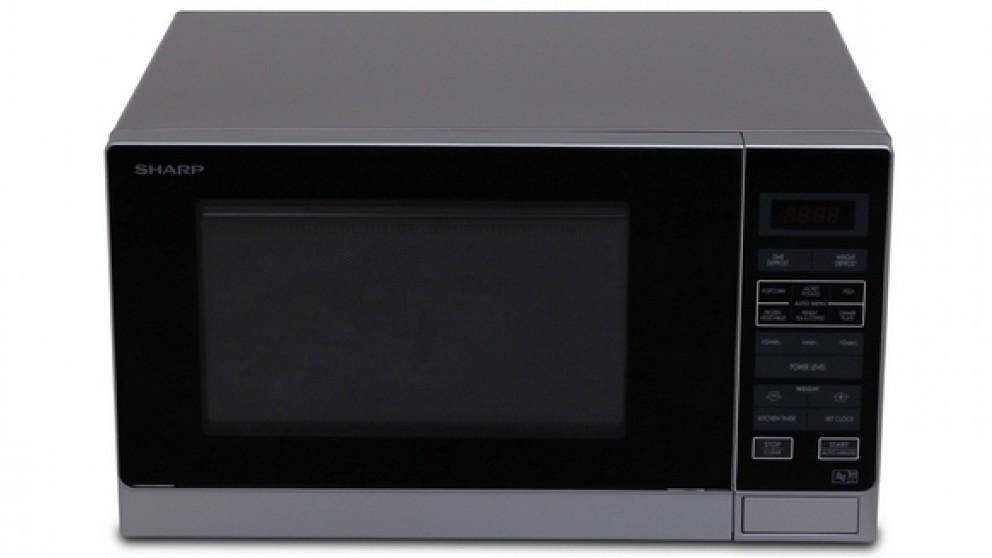 Sharp 900W Midsize Microwave Oven – Silver