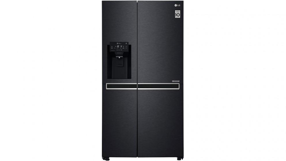 LG 668L Side By Side Fridge with Non-Plumbed Ice & Water Dispenser – Matte Black