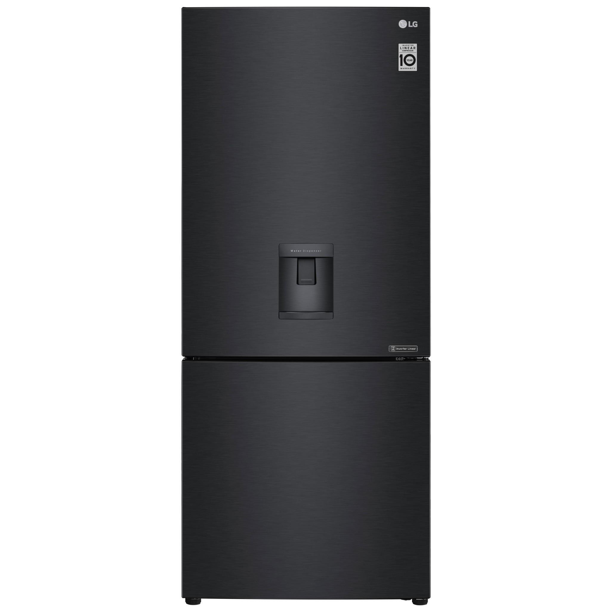LG GBW455MBL 454L Bottom Mount Fridge (Matte Black)