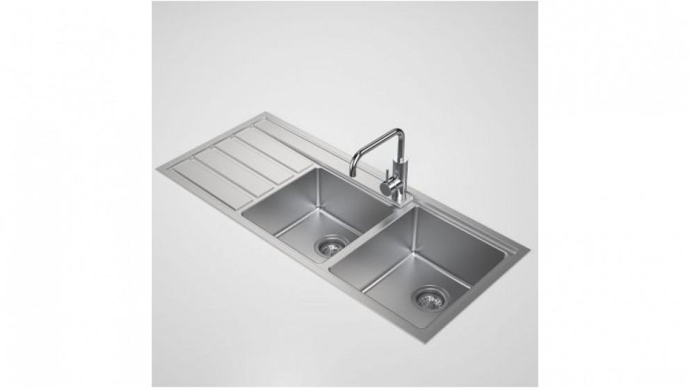 Caroma Compass 1.75 Right Hand Bowl Sink with 1 Tap Hole