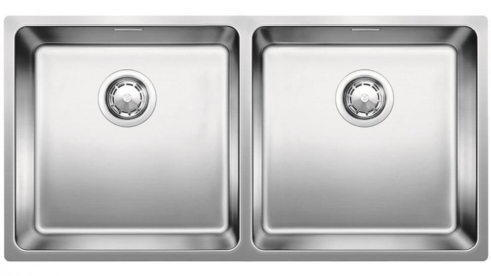 Blanco Stainless Steel Double Bowl Inset/Flushmount Sink with Overflow