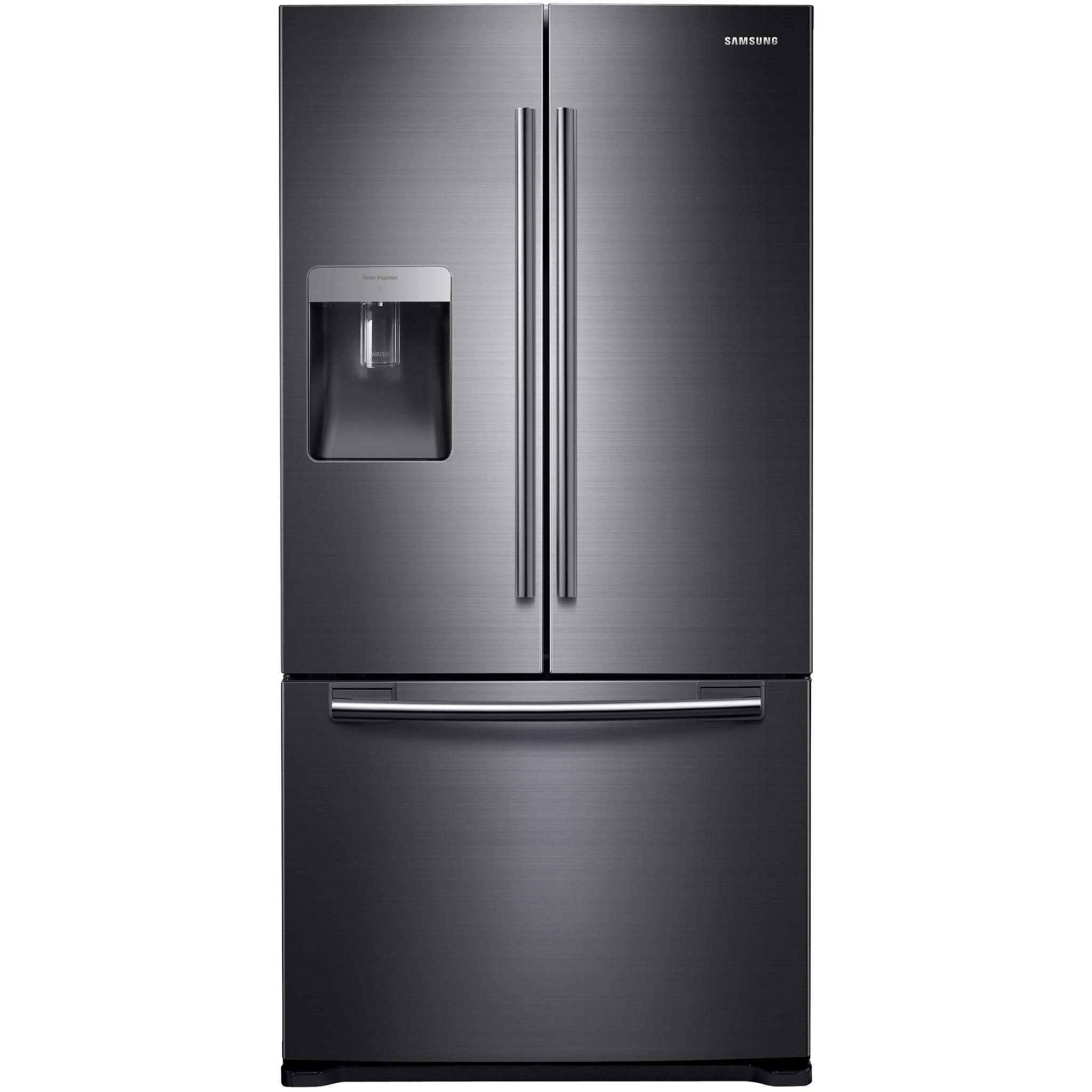 Samsung SRF582DBLS 583L French Door Fridge (Black Steel)