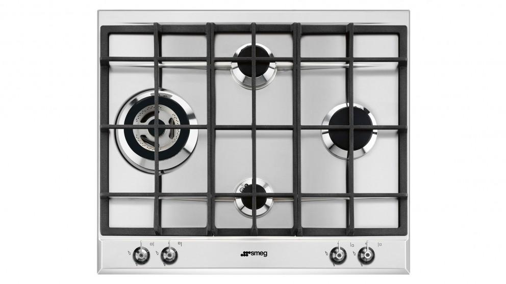 Smeg 600mm 4 Zone Gas Cooktop – Stainless Steel