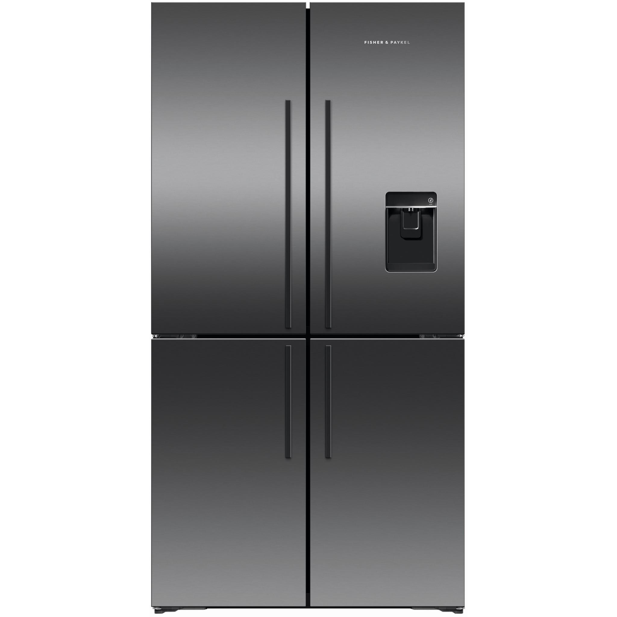 Fisher & Paykel RF605QDUVB1 605L Quad Door Fridge (Black)