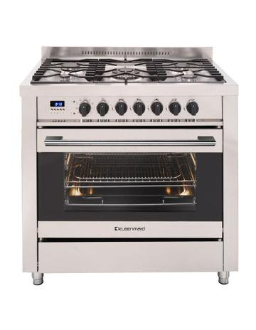 Kleenmaid 109L Stainless Steel Dual Fuel Oven 5 gas burners OFS9020