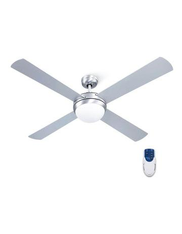 Devanti 52″ 1300mm Ceiling Fan Brushed Aluminum Finish 4 Bladeswith Light Remote