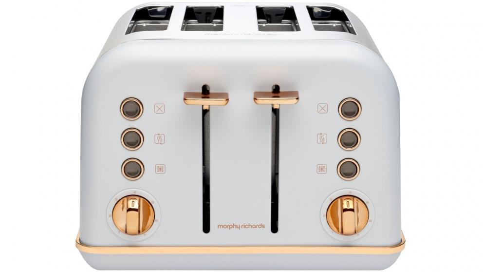 Morphy Richards Accents Rose Gold 4 Slice Toaster – Ocean Grey