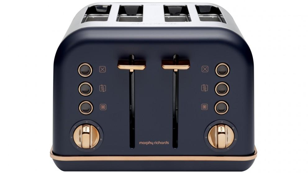 Morphy Richards Accents Rose Gold 4 Slice Toaster – Midnight Blue