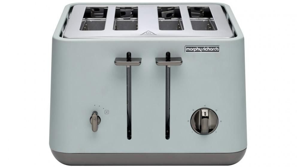 Morphy Richards Aspect Chrome Trim 4 Slice Toaster – Willow Green