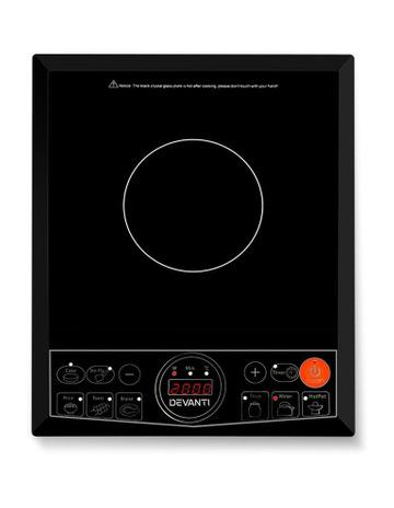 Devanti Chef Electric Induction Cooktop Portable Kitchen Cooker Ceramic Cook Top Cooking