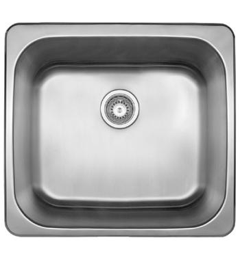 Abey LT45B The Leichardt 45L Single Inset Laundry Tub with Overflow