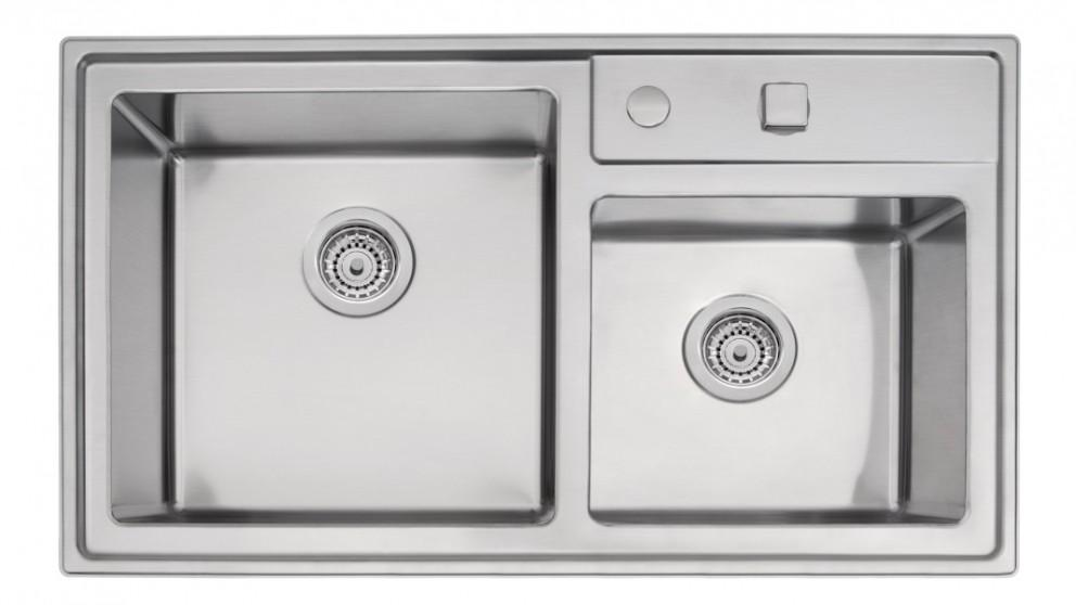 Linsol Tramontina 40 Double Bowl Top Mount Sink