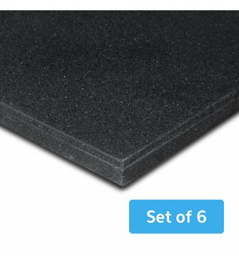 Cortex MATGYM15-SET6 Gym Floor Mat 15mm Rubber – Set of 6