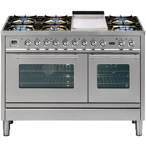 ILVE 120cm Freestanding Dual Fuel Oven/Stove PSW120FMPSS