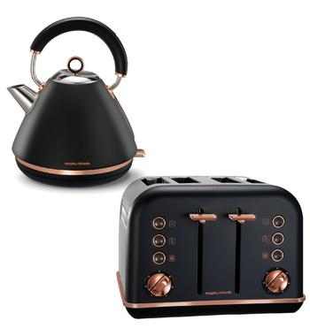 Morphy Richards 242107102107 Accents Rose Gold Kettle and Toaster Pack