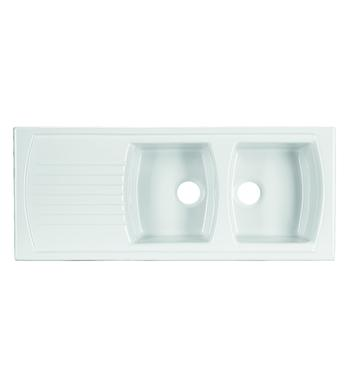Turner Hastings 7222 Lusitano Double Bowl Sink with Reversible Drainer