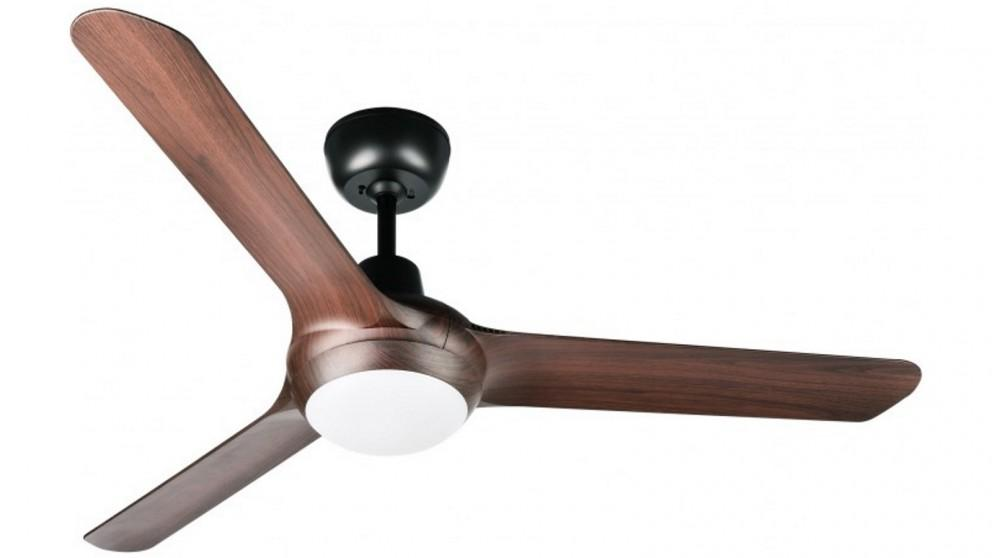 Ventair Spyda 157cm Fully Moulded 3 Blade Ceiling Fan with Light – Walnut