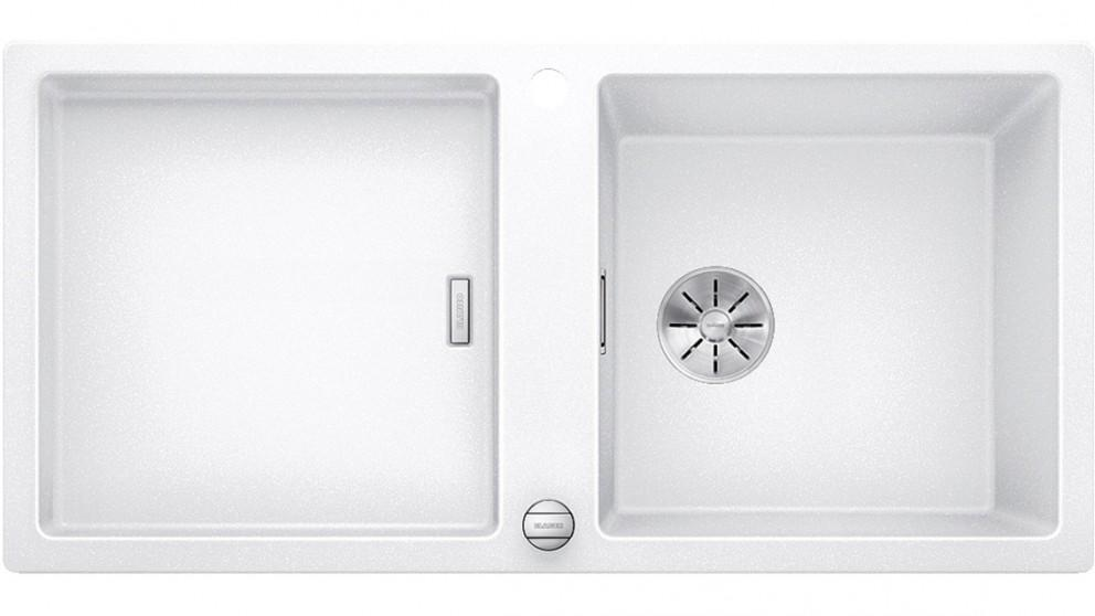 Blanco ADON XL 6 S Single Bowl Inset Sink with Drainer and Overflow – White