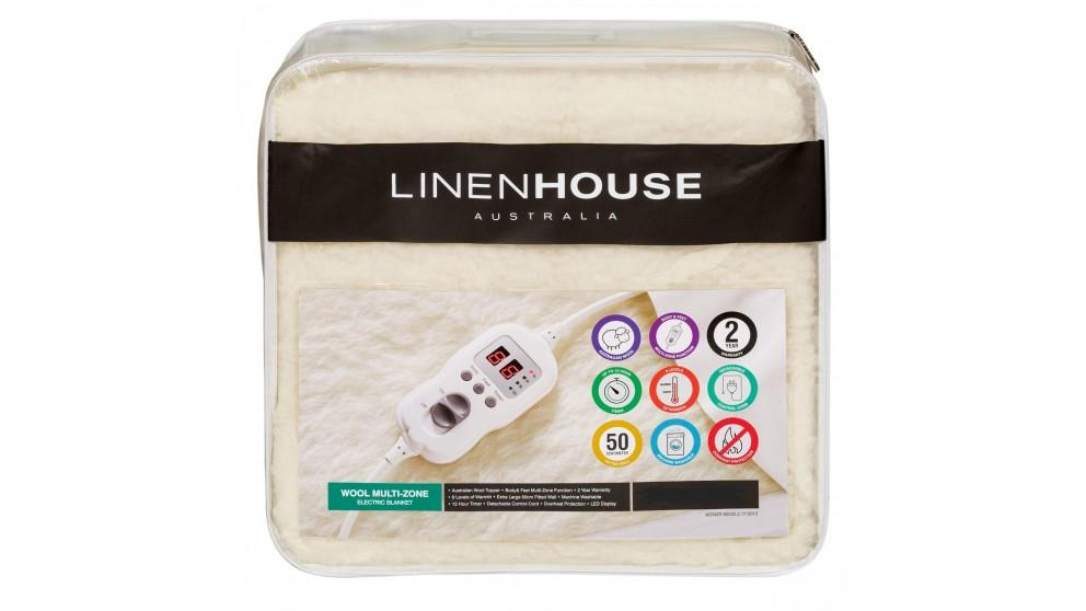 Linen House Multizone Wool King Single Electric Blanket