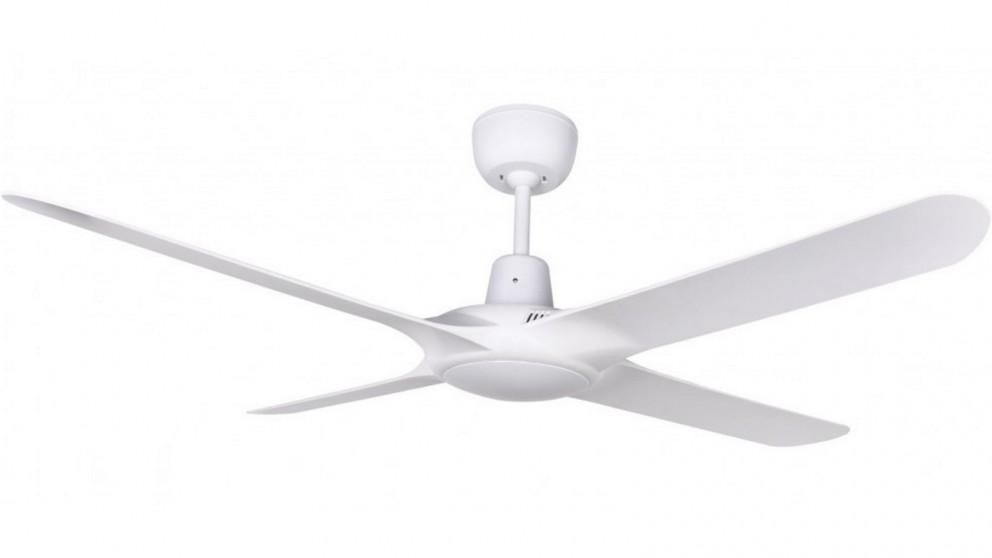 Ventair Spyda 140cm Fully Moulded 4 Blade Ceiling Fan – White
