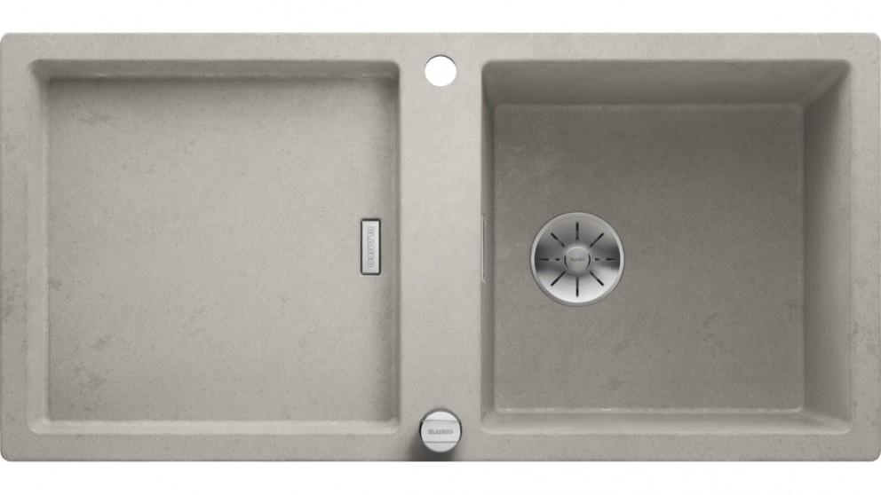 Blanco ADON XL 6 S Single Bowl Inset Sink with Drainer and Overflow – Concrete