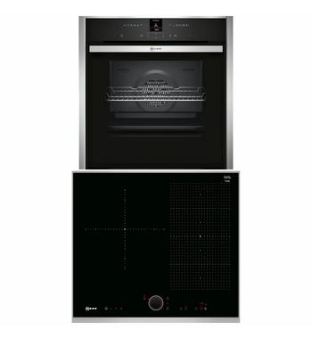 NEFF 60cm Induction Cooktop & 60cm Pyrolytic Oven Pack T56TS31N0B57CR22N0B