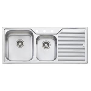 Oliveri Nu-Petite 1 & 3/4 Bowl Right Hand Drainer Sink NP6113TH